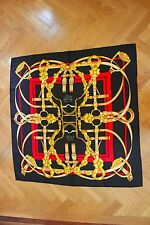 VINTAGE 100% Authentic Hermes Scarf Equestrian Bridles and Ribbon SUPER MINT!!!!