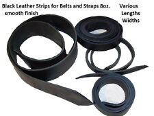 "Black Leather 8oz. Heavy Latigo 1.75"" or 2"" x 60"" Smooth Belt Strap Strip NEW"