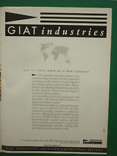 10/1990 PUB GIAT INDUSTRIES FRENCH DEFENCE MAJOR 1/7/1990 ARMEMENTS ORIGINAL AD