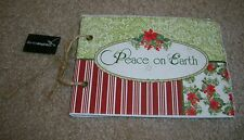 Creative Co-Op Peace on Earth Holiday Christmas Photo Album Artisan Scrapbook