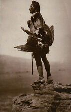 """ Eagle Catcher "" Hidatsa Indian by Edward Curtis c1908 Native American Postcard"