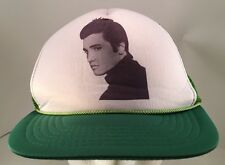Vintage Young Elvis Presley Photo Green Rope Front Snapback Trucker Hat