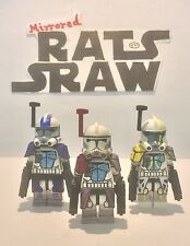 Lego star wars minifigures-clone custom troopers arc comdrs havoc, colt, blitz