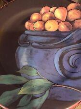 """Gorgeous Set of 10 Cueillette Gien France Blue Pot Salad Plates 8 1/2"""""""