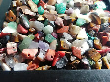 500 Beads ! New Variety Gem MIX Multicolor stone Gemstone chip nugget bead lot