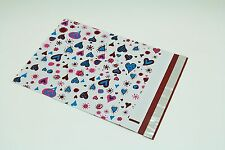 300 10x13 Blue Hearts Designer Poly Mailers Envelopes Boutique Custom Bags