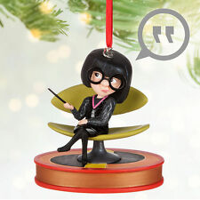 Disney Store The Incredibles Edna Mode Talking Holiday Christmas Ornament Figure