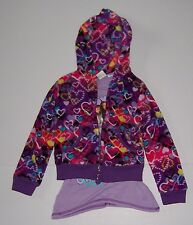 DISNEY SHAKE IT UP GIRLS FLEECE ZIP UP HOODIE JACKET & SHIRT SET SIZE 4/5 NWT