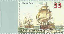Ville de Paris 33¢ Stamp (25-11) Marshall Islands History's/Fighting Ships