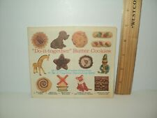 "Vintage 1965 Do-It-Together Butter Cookie Recipes Cookbook Pillsbury 5"" x 6"""