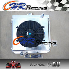 56mm 3 ROW Aluminum Radiator for Ford XW XY 302 GS GT 351 Cleveland + Shroud+Fan