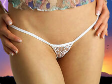 All New LACE 2016 Beauty in WHITE sexy micro thong Europen made g string
