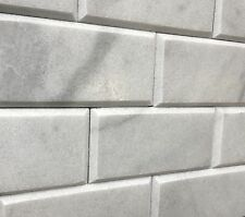 Gray Carrara 3x6 Honed Beveled Marble Tile Backsplash Wall(SOLD PER SQUARE-FOOT)