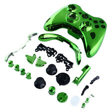 Cool Green Chrome Full Shell Case Replace +Button For Xbox 360 Controller Hot