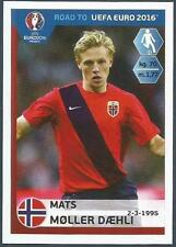 PANINI ROAD TO UEFA EURO 2016- #188-NORWAY-MATS MOLLER DAEHLI