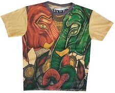 ds Men T Shirt GANESH HINDU ELEPHANT INDIA HIPPIE Peace Hobo Boho L RARE WEED