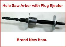 "Hole Saw Holesaw Arbor With 1/4"" Pilot Bit & a Built in Plug Ejector  NEW!"