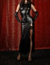 Sexy Faux Latex Vinyl Wet Look PVC maxi dress