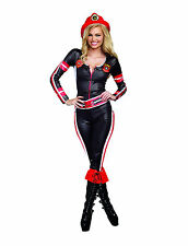 NEW LIGHT MY FIRE Firefighter Adult Halloween Women's Sexy Costume SIZE Small