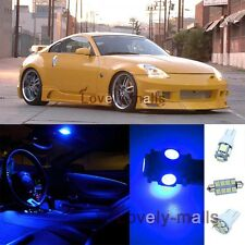 Pure Blue Light Bulb SMD Interior LED Package Kit For Nissan 350Z  2003-2008