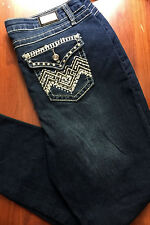 Woman's Miss EARL JEAN Bling Me Size 14W BootCut Rhinestone Sexy~NWT'S $58
