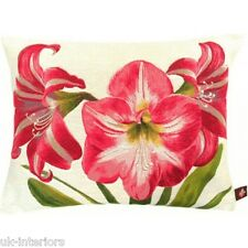 "14""x19"" Amaryllis French Woven Cotton Tapestry Cushion 40x50cm"