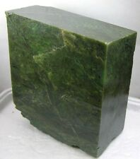 3840g BC Canada 100% Natural Raw Rough Green Jade Block Chunk Specimen 8.47 lb