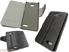 CUSTODIA pu silk Pelle per alcatel one touch idol mini 6012 COVER folio NERO