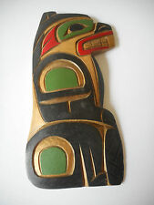 Vintage Native Kwakiutl Beaver Hand Carved Wall Plaque by George Matilpi