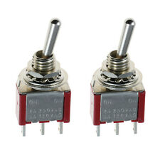 2 x On/On Mini Miniature Toggle Switch Car Dash SPDT