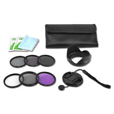 Pro Filter Kit 52 UV CPL ND248 FLD+Cleaning Kit for Nikon D5200 D3200 Canon 400D