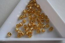 Silver Lined Light Topaz Toho Square Beads. 150 beads. #7277