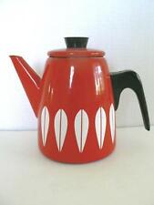 CATHRINEHOLM NORWAY ORANGE ENAMEL LOTUS COFFEE TEA POT RETRO MCM CATHERINE HOLM