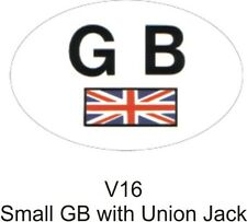 Outdoor Vinyl Sticker  Small  White  GB With Union Jack  CASTLE PROMOTIONS V16