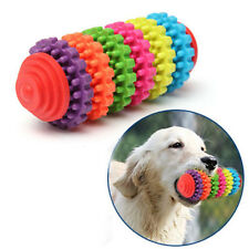 Pet Dog Cat Colorful Rubber Teething Healthy Teeth Chew Training Play Ball Toy