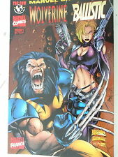 1  x Comic -Marvel Crossover French- Band 4 -Wolverine vs  Ballistic - sehr gut