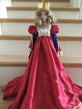 "Franklin Mint ""Queen of Hearts"" Heirloom Porcelain Doll"