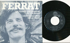 JEAN FERRAT 45 TOURS FRANCE LA FEMME EST L'AVENIR DE L'HOMME ARAGON (2)