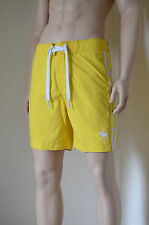 Abercrombie & Fitch Beaver Meadows Swim Board Shorts Yellow Stripe L RRP £58