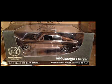 1966 Dodge Charger BLACK CHROME chase 1:18 Ertl American Muscle 39082