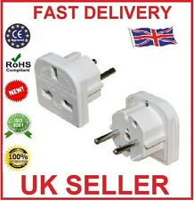 5X UK TO EU EURO EUROPE EUROPEAN TRAVEL ADAPTOR ADAPTER 3 PIN TO 2 PIN PLUG