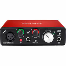 Focusrite Scarlett Solo - USB 2.0 Audio Interface (2nd Generation)