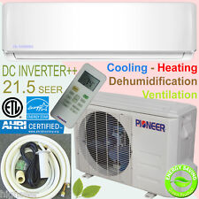 PIONEER 12000 BTU 21.5 SEER Inverter Ductless Mini Split Heat Pump, 10' Pipe Kit