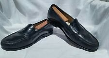 Cole Haan Black Leather Mens Penny Loafers Slip On Shoes India 9D - S618