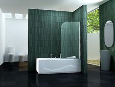 SOLTO 80 x 140 cm Badewannen Faltwand Duschwand Duschabtrennung Dusche Duschwand
