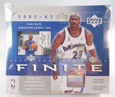 2002-03 UD Finite Basketball Sealed Hobby Box - 10 Packs, 3 Cards Per Pack