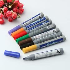 8 Color Set 2.8mm White Board Liquid Chalk Pen Marker Dry Wipe Easy Erase Glass
