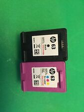 NEW HP 63 Original Ink Cartridge Combo-Black/Color-All in one Hp Printer- Opened