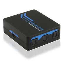 3-Port 1x3 SPDIF Toslink Optical Digital Audio Splitter w/USB Power, 1-in 3-out