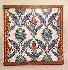 Vintage Tilesx4 Iznik Design Framed